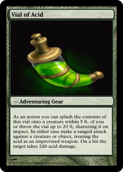 5E Some Magic Item Cards I Made